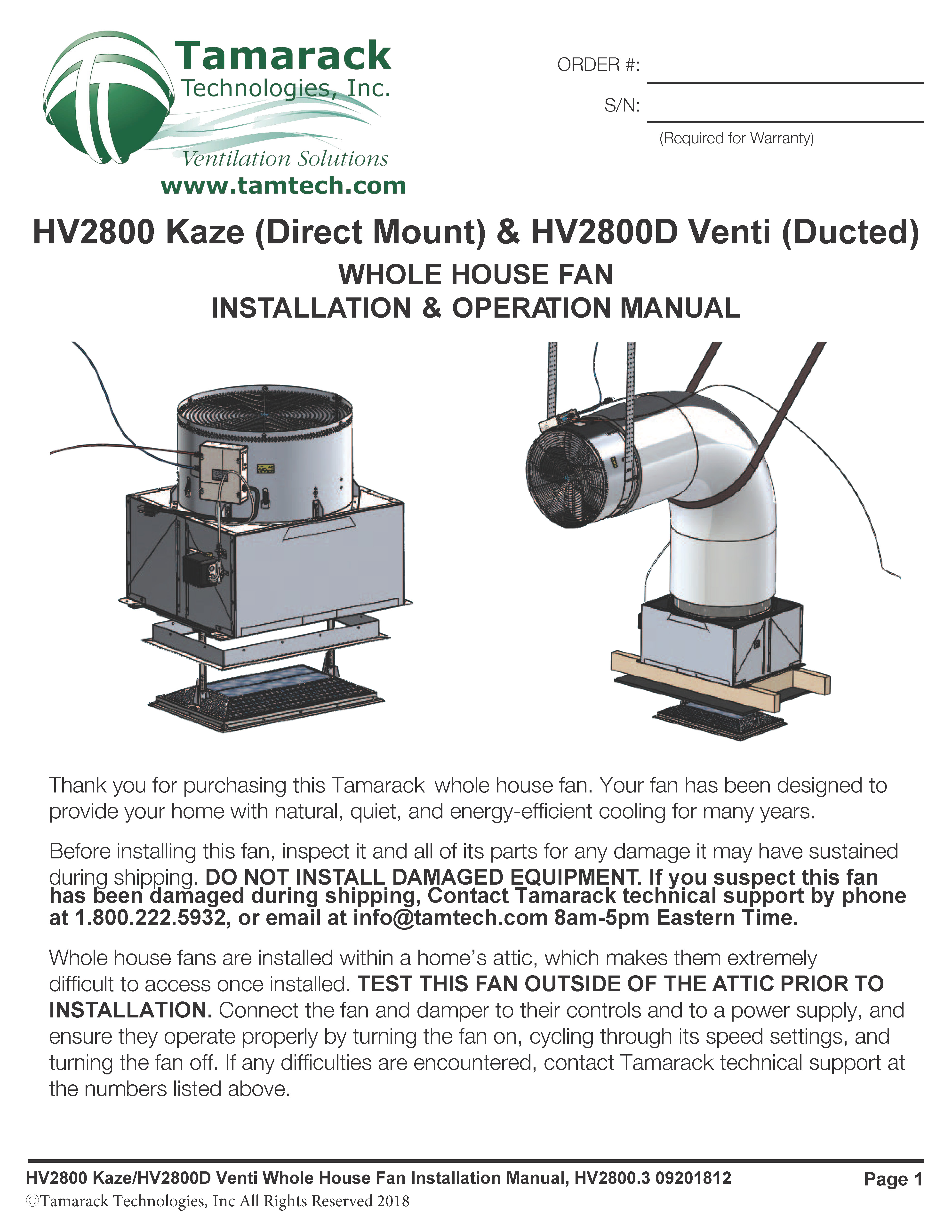 Click Here To The Installation Manual And Operation Guide