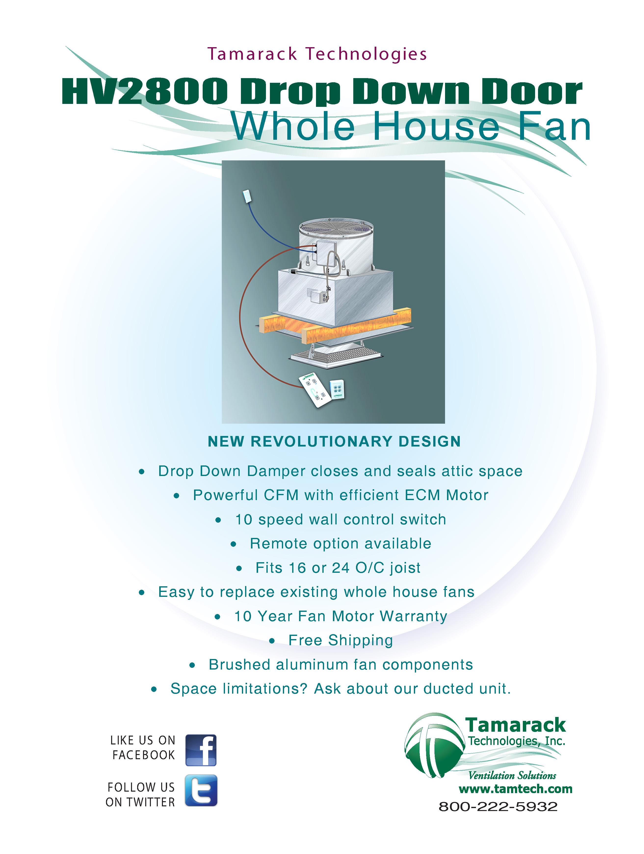 HV2800 Kaze Whole House Fan