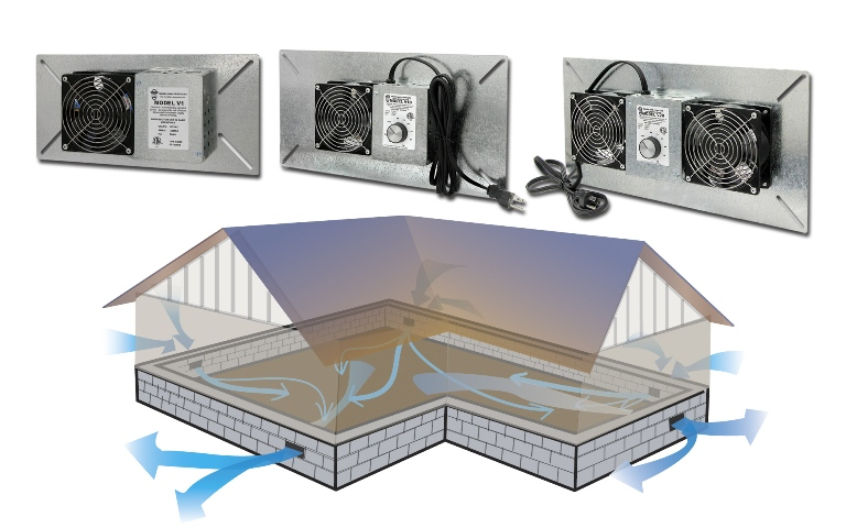crawl space ventilation moisture humidity heat