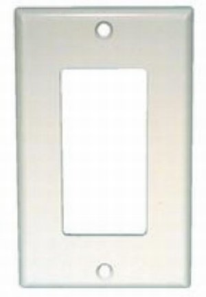 Decora Style Trim Plate for Airetrak Advantage-White