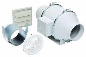 100 CFM In-Line Ducted Bathroom Fan Kit
