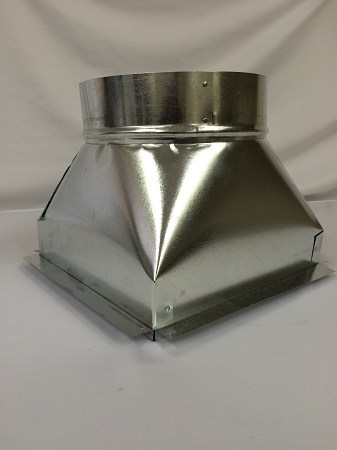 """10"""" round duct adapter for 12 X 12 Ceiling Grille"""