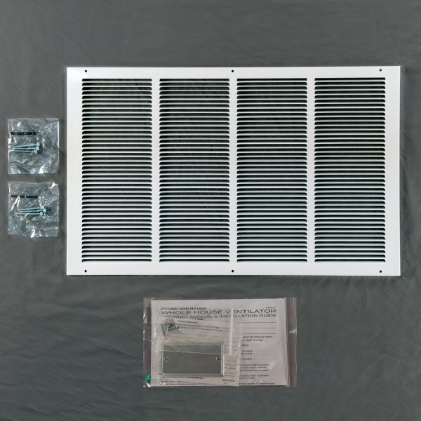HV1600 with R50 Self-Sealing Doors White Grille and Screws