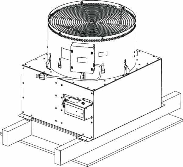HV2800 Kaze Whole House Fan CAD drawing
