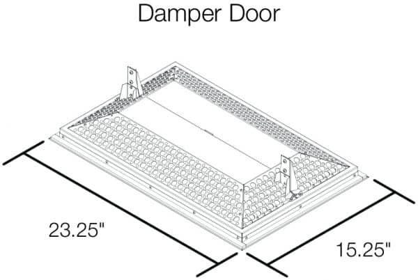 HV2800 Kaze Whole House Fan Drop Down Door Dimensions