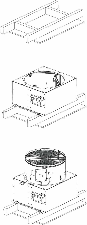 HV2800 Kaze Whole House Fan Dimensions of Damper