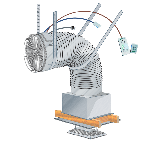 HV2800D Venti Ducted Whole House Fan