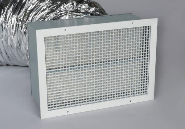 HV4800 Ducted Whole House Fan Close Up of Gravity Damper