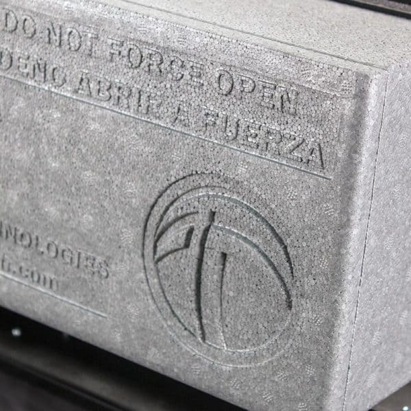 Close Up of Tamarack Logo On Whole House Fan Mechanical Self Sealing Door