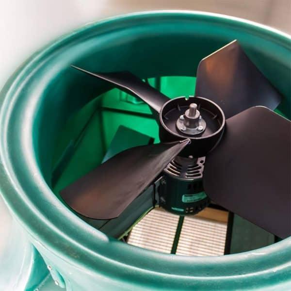 Tamarack Smart WIFI HV3400 R50 Ghost Whole House Fan Top View Fan Motor