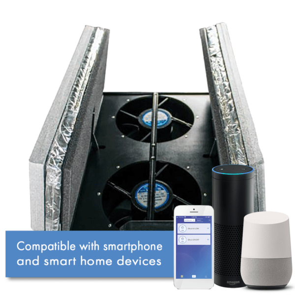 Wifi Whloe House Fan With Amazon Alexa and Google Home Smart Devices