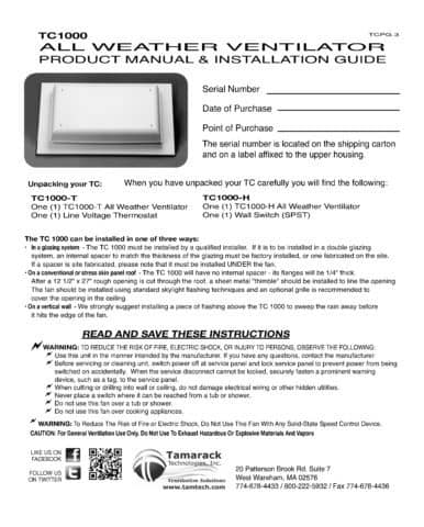 TC1000 Product Manual