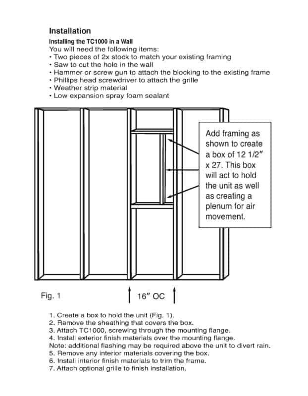 TC1000 Product Manual and Installation Guide Page 2