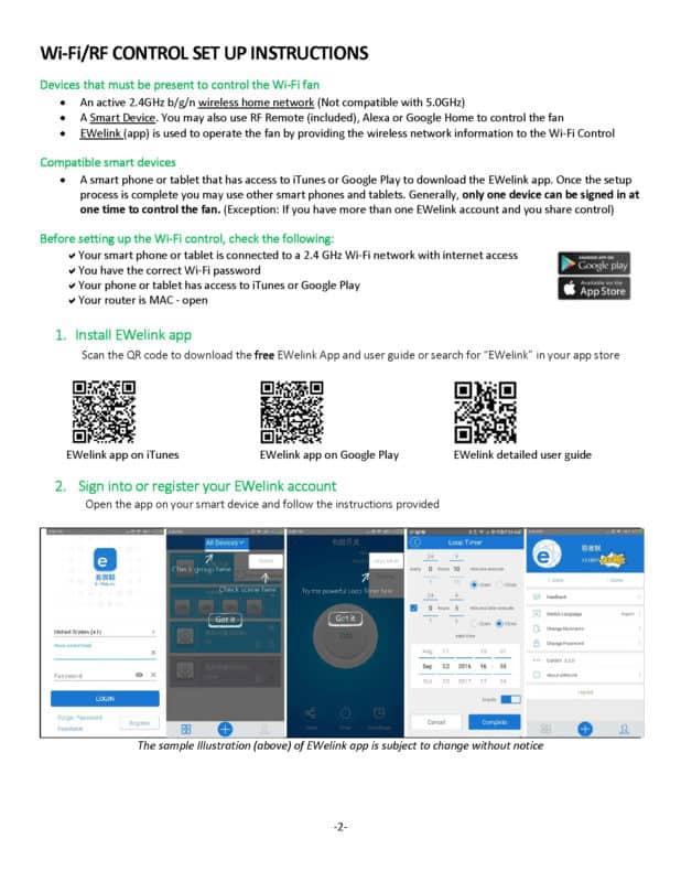 TC1000H WiFi Manual page 2