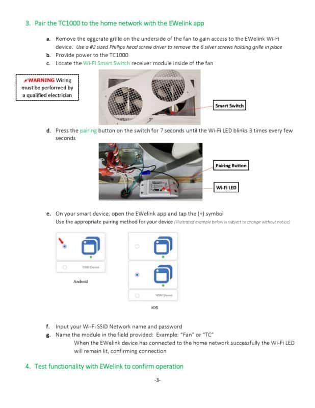 TC1000H WiFi Manual page 3
