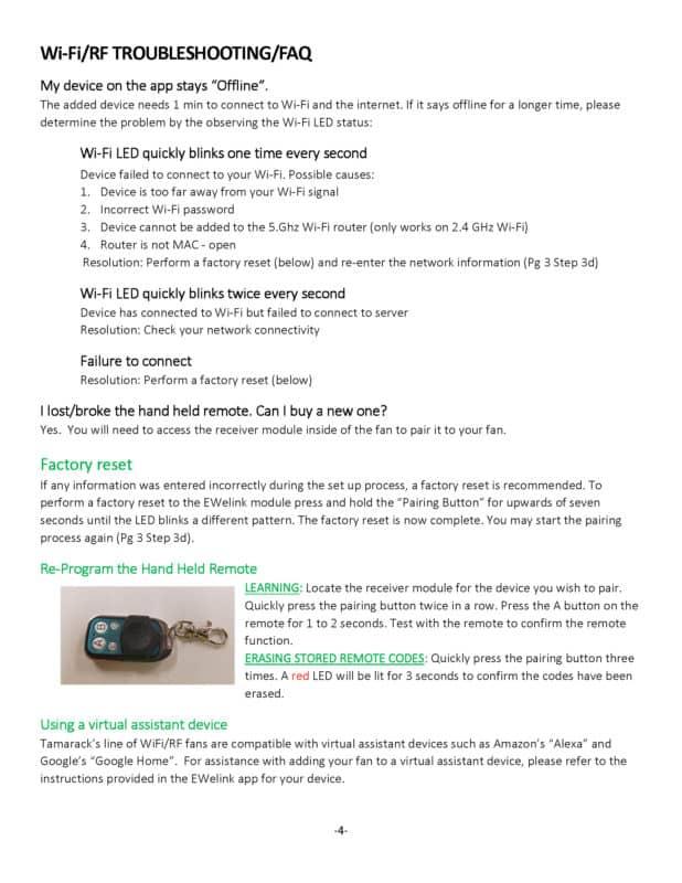 TC1000H WiFi Manual page 4