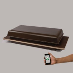 Wi-Fi TC1000-T Brown With Cell Phone Showing WIFI Control