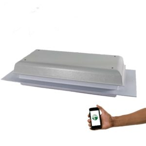 Wi-Fi TC1000T White Sunroom and Pool Room Ventilation Fan With Cell Phone WiFi Control