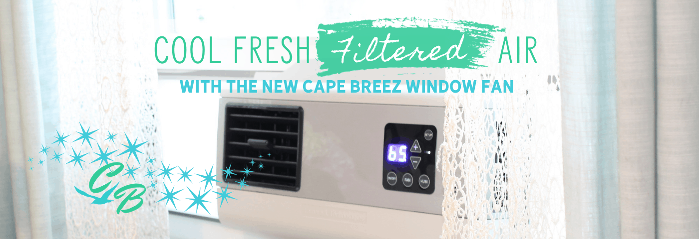 Cool, fresh, filtered air with Tamarack's new filtering window fan