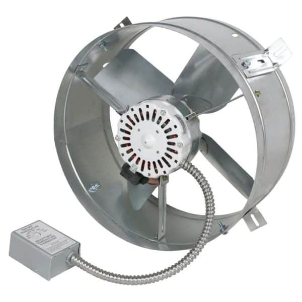 Side view Gable Attic Fan Powered Ventilator