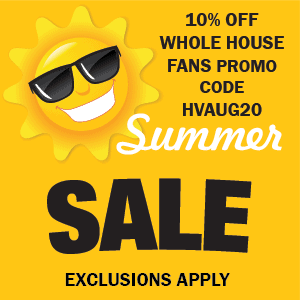 Whole House Fan Sale Promo Code Coupon Code Discount 10% OFF Free Shipping