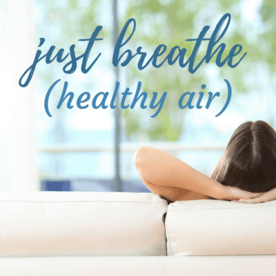 Woman Relaxing in Home with Healthy Fresh Air in Home Comfort and